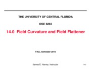 14.0 Field Curvature and Flattener