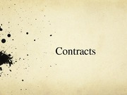 FIN 3055 - Contracts