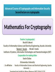3rd-2018Mar-dis-iitdmj2017@161225_Cryptography_Lecture_2(Mathematics for Cryptography) (1).pptx