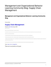 supply chain mgt coyle ch1 Access operations and supply chain management 14th edition chapter 14 solutions now our solutions are written by chegg experts so you can be assured of the highest quality.