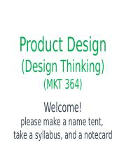 1.1 Slides - Introductions - Product Design - Canvas.pptx