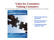 Principles - Ch2 - Customer Value and Valuing Customers