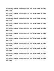 Finding more information on research study design.docx