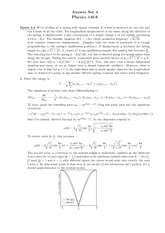 Problem Set 4 Solution on Introduction to Condensed Matter Physics