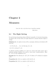 Chapter 2 Notes - Measure
