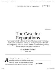 The Case for Reparations - The Atlantic