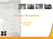 Strategic Management Pt.2 8-31-15