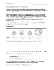 MATH 219 Sampling distribution worksheet