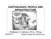 ERTH 2415 - Lecture 8 - Earthquakes and People