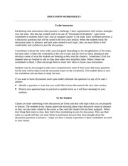 DiscussionWorksheets