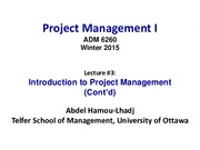 Lecture 3 Project Initiation Phase for Project Management