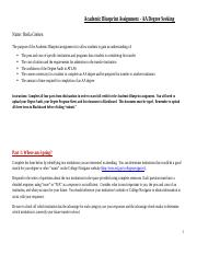 Academic Blueprint Assignment - AA Degree Seeking(SHEILA GREISEN)