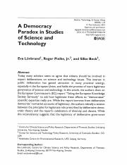 16 Pielke Expertise and Democracy Reading
