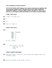 Apsc 160 Practice Midterm Solution