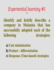 Experiential learning OM