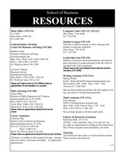 Business Resources Fall 2014