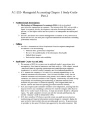 AC-202- Managerial Accounting Chapter 1 Study Guide part 2