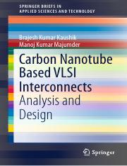 Brajesh Kumar Kaushik, Manoj Kumar Majumder auth. Carbon Nanotube Based VLSI Interconnects Analysis