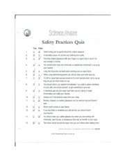 Science Safety Quiz
