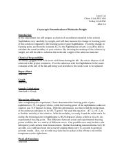 Cryoscopic Determination of Molecular Weight.doc.docx