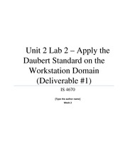 Unit 2 Lab 2 - Apply the Daubert Standard on the Workstation Domain (Deliverable #1)
