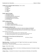 Nursing Fundamentals Unit 2 study sheet.rtf