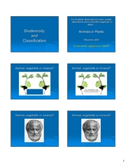 CC BOT 131 Biodiversity and Classification