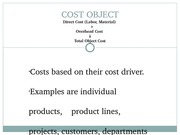 COST accounting project slide
