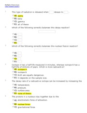 Chapter 13 Multiple Choice Quiz