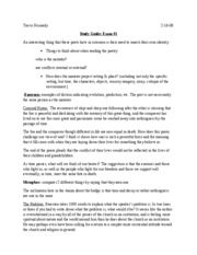 Study Guide_Major American Writers_Test #1