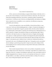 POLS 323 Case Centered Constitutional Law Essay
