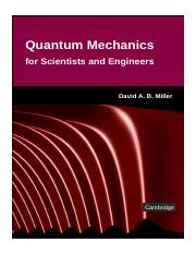 (Classroom Resource Materials) David A. B. Miller-Quantum Mechanics for Scientists and Engineers -Ca