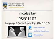 L22 Social Psychology II