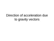 Direction of acceleration due to gravity