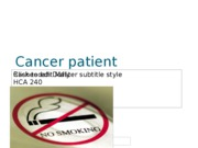 Cancer patient Information Sheet