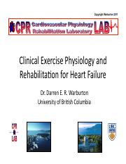 Lecture 17 Clinical Exercise Rehabilitation for Heart Failure Handouts.pdf