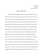 oryx and crake analysis essay