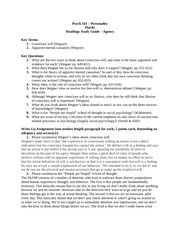 Psych 341 Notes on Agency