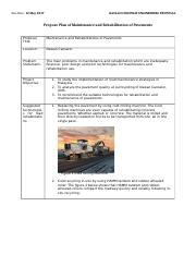 Propose Plan of Maintenance and Rehabilitation of Pavements.docx