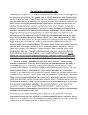The Death of Ivan ilyich Practice Essay.docx