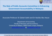 Public Accounts Committee of Malaysia-PAC Symposium_Melbourne 28th October 2014_present