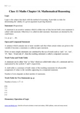 Maths notes download pdf Class 11 Mathematics Chapter 14  Mathematical Reasoning.pdf