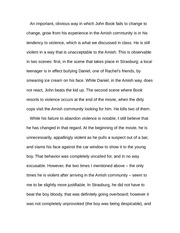 Essay on Witness Character Development