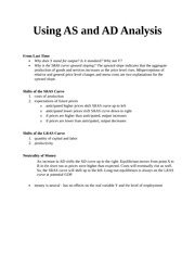 Using AS and AD Analysis