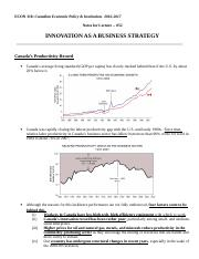 Econ 318_F2016_Chapter_052_Innovation as a Business Strategy_Short.doc