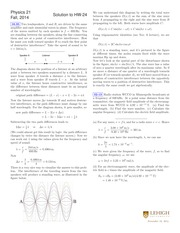 PHYSICS 21 Fall 2014 Homework 24 Solutions