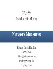 Ch3 - Network Measures (2016)