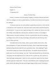 The Other Wes Moore Part   Ethan Manubay Miss Heidi Theonen   Pages Profileessay Honesty The Best Policy Good Thesis Statement Examples For Essays also Importance Of Good Health Essay Topics Of Essays For High School Students