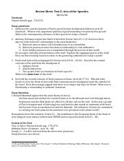 Review Sheet Test 3013 Acts