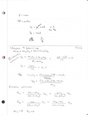 PH 105 Ch. 9 Warm Up & Exam 1 Review
